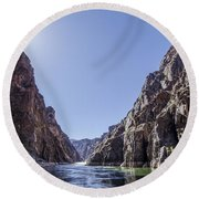 Grand Canyon Gorge Round Beach Towel