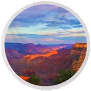Grand Canyon Grand Sky Round Beach Towel