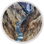 Grand Canyon Main View Round Beach Towel