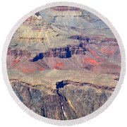 Grand Canyon Rock Formations IIi Round Beach Towel