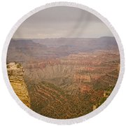 Grand Canyon Scenic Overlook View Round Beach Towel