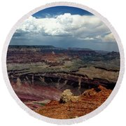 Grand Canyon View - Greeting Card Round Beach Towel