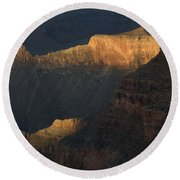 Grand Canyon Vignette 1 Round Beach Towel