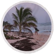Grand Cayman Surfer Round Beach Towel