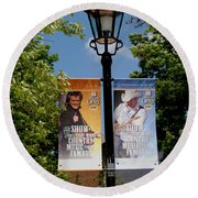 Grand Ole Opry Flags Nashville Round Beach Towel