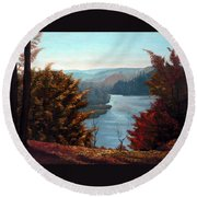 Grand River Look-out Round Beach Towel