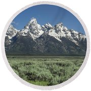 Grand Teton Spring Round Beach Towel