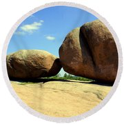 Granite Boulders 2  Round Beach Towel