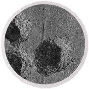 Granite Holes Round Beach Towel
