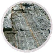Granite With Quartz Inclusions Round Beach Towel