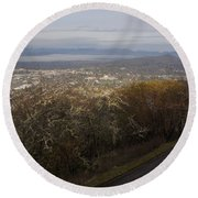 Grants Pass From The Hill Top Round Beach Towel
