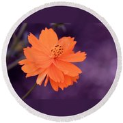 Grape Creamsicle Round Beach Towel