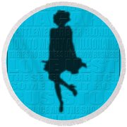 Graphic Marilyn Monroe Round Beach Towel