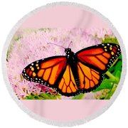 Graphic Monarch Round Beach Towel