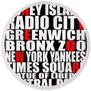 Graphic New York 3 Round Beach Towel
