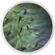 Grass Abstraction Round Beach Towel