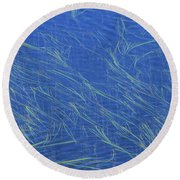 Grasses And Water Round Beach Towel