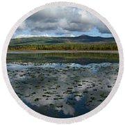 Gravel Lake, North Klondike Highway Round Beach Towel