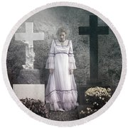 Graves Round Beach Towel by Joana Kruse