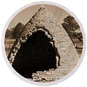Graveyard Dome Round Beach Towel