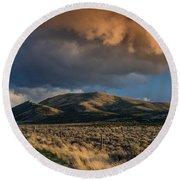 Great Basin Cloud Round Beach Towel