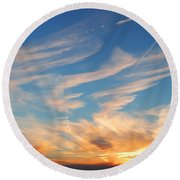 Great Canadian Sunset Round Beach Towel