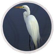 Great Egret 2 Round Beach Towel