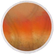 Great Fire Of London Round Beach Towel