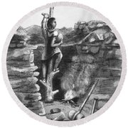 Great Lakes: Ancient Miner Round Beach Towel