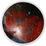 Great Nebula In Orion Round Beach Towel by Science Source
