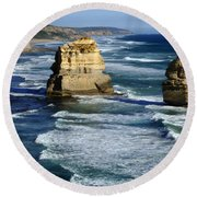 Great Ocean Road Round Beach Towel