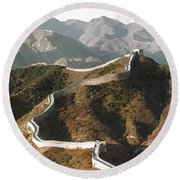 Great Wall Of China, C1970 Round Beach Towel