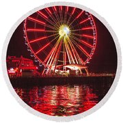 Great Wheel  Round Beach Towel