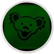 Greatful Dead Dancing Bear In Green Round Beach Towel