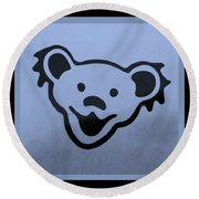 Greatful Dead Dancing Bears In Cyan Round Beach Towel