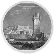 Greece: Rhodes, C1850 Round Beach Towel