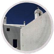 Greek Architecture Mykonos 2 Round Beach Towel
