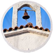 Greek Church Round Beach Towel