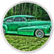 Green Classic Hdr Round Beach Towel