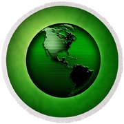 Green Earth Round Beach Towel