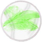 Green Ghost Round Beach Towel