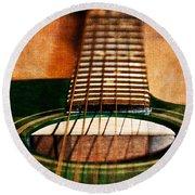 Green Gibson Round Beach Towel