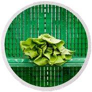 Green Greens Round Beach Towel