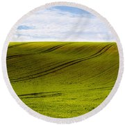 Green Hill Round Beach Towel