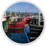 Greencastle, Lough Foyle, Co Donegal Round Beach Towel