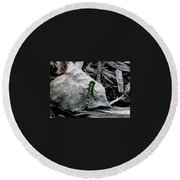 Greenie Round Beach Towel