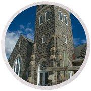 Greenmount United Methodist Church Round Beach Towel