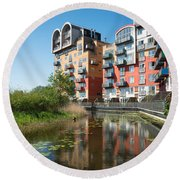 Greenwich Millennium Village Round Beach Towel