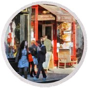 Greenwich Village Bakery Round Beach Towel