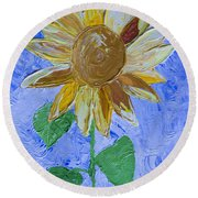 Greetings To Autumn Round Beach Towel